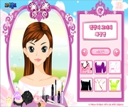Cute girl make gra online