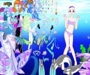 Dolphin Swimming Dress Up gra online