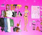 Pink Star Dress Up 2 gra online