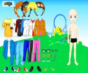 Themepark Boy Dress Up gra online