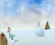 Yeti snowball gra online